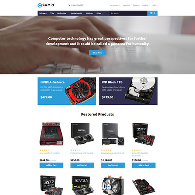Compy OpenCart Template (OpenCart theme for electronics) Item Picture