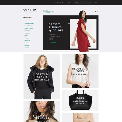 Concept PrestaShop Theme (PrestaShop theme for womens clothing) Item Picture