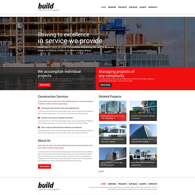 Construction Company Responsive Joomla Template (Joomla template for construction companies) Item Picture