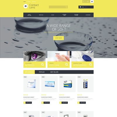 Contact Lens Technology PrestaShop Theme (PrestaShop theme for health and medical stores) Item Picture