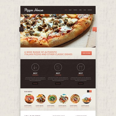 Contrast Pizza Drupal Template (Drupal theme for restaurants) Item Picture
