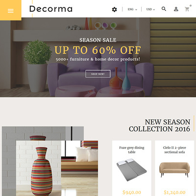 Decorma (PrestaShop theme for furniture stores) Item Picture