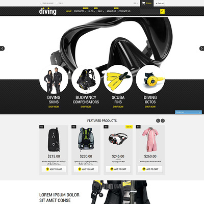 Diving Shop Shopify Theme (Shopify theme for sports stores) Item Picture