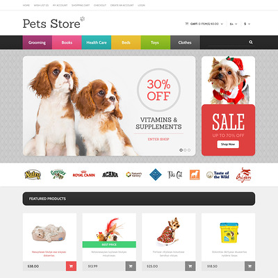 Dog Responsive OpenCart Template (OpenCart themes for pets and animals) Item Picture
