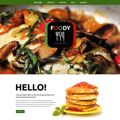 Eating Out Drupal Template (Drupal theme for restaurants) Item Picture