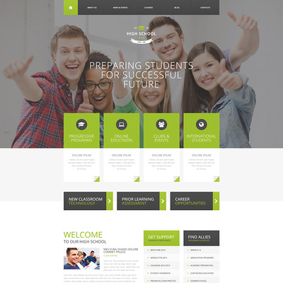 Education Responsive Drupal Template (Drupal theme for education) Item Picture