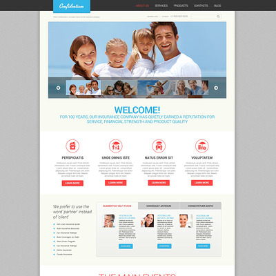 Effective Insurance WordPress Theme (WordPress theme for insurance companies) Item Picture
