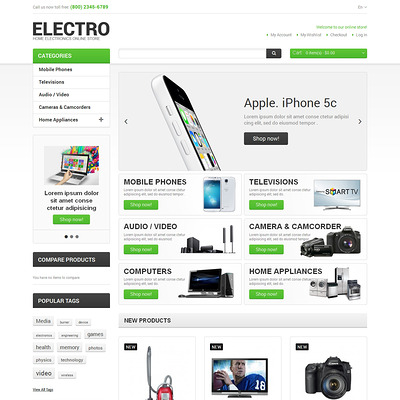 Electro Appliances Magento Theme (Magento theme for electronics stores) Item Picture