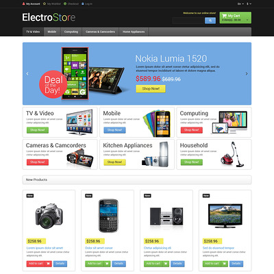 Electro Goods Magento Theme (Magento theme for electronics stores) Item Picture