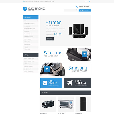Electronic Appliances OpenCart Template (OpenCart theme for electronics) Item Picture
