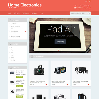 Electronics Responsive Magento Theme (Magento theme for electronics stores) Item Picture