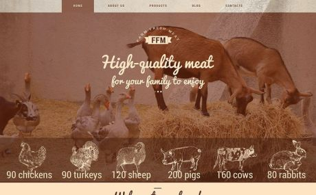 Farm Fresh Meats WordPress Theme (farming and agricultural WordPress theme) Screenshot