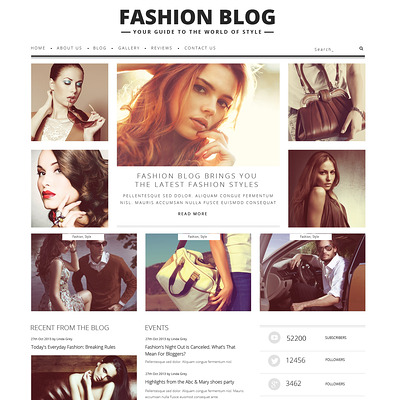 Fashion Blog WordPress Theme (WordPress theme for fashion blogs) Item Picture