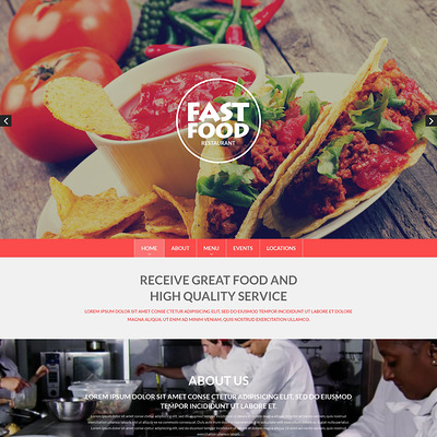 Fast Food Drupal Template (Drupal theme for restaurants) Item Picture