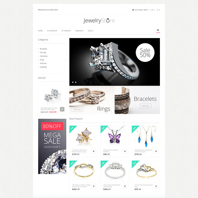 Fine Jewelry Magento Theme (Magento theme for selling jewelry and watches) Item Picture