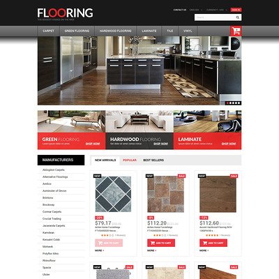 Flooring Store PrestaShop Theme (PrestaShop theme for wood and tile flooring stores) Item Picture