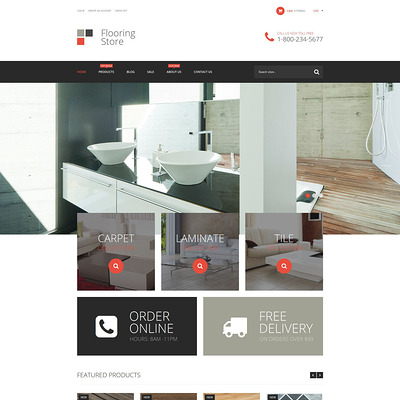 Flooring Store Shopify Theme (Shopify theme for tools and home improvement stores) Item Picture