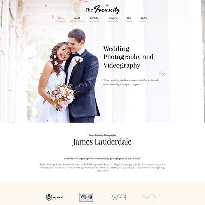 Focussity (WordPress theme for wedding professionals) Item Picture