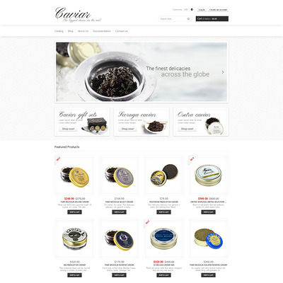 Food Store Responsive Shopify Theme (Shopify theme for food) Item Picture