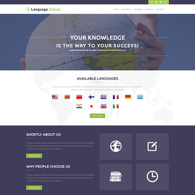 Foreign Language School WordPress Theme (education WordPress theme) Item Picture