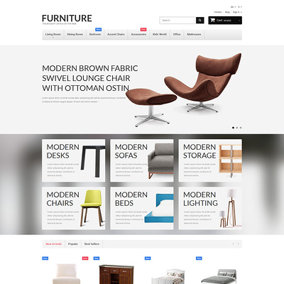 Furniture PrestaShop Theme (PrestaShop theme for furniture stores) Item Picture
