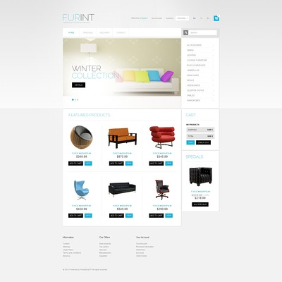 Furniture and Interior PrestaShop Theme (PrestaShop theme for furniture stores) Item Picture