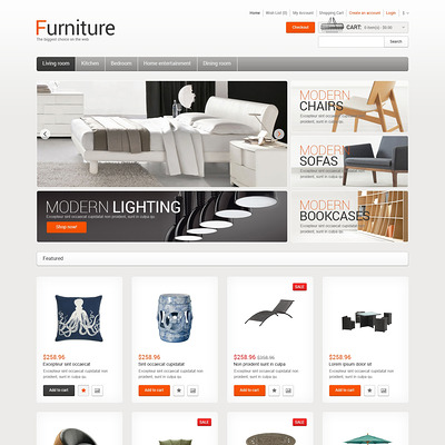 Furniture for Comfort OpenCart Template (OpenCart themes for furniture stores) Item Picture