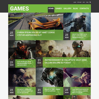 Game Portal Responsive Joomla Template (Joomla template for gaming websites) Item Picture