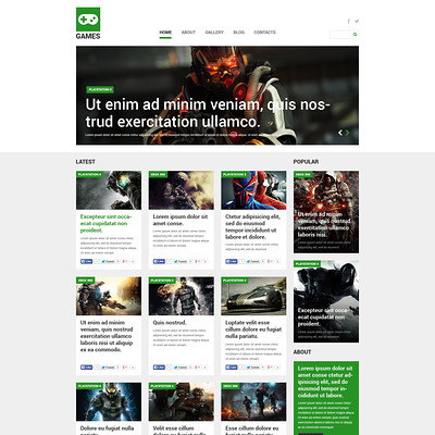 Games Joomla Template (Joomla template for gaming websites) Item Picture