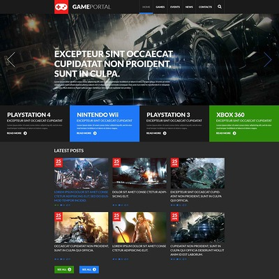 Gaming Fan Board WordPress Theme (WordPress theme for game portal websites) Item Picture