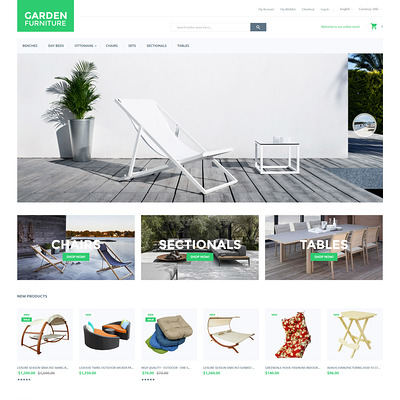 Garden Furniture Magento Theme (Magento theme for furniture stores) Item Picture