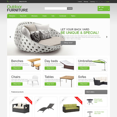 Garden Furniture Sheds PrestaShop Theme (PrestaShop theme for furniture stores) Item Picture