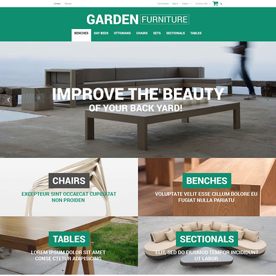 Garden Furniture and Sheds PrestaShop Theme (PrestaShop theme for furniture stores) Item Picture