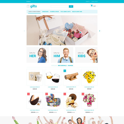 Gifts PrestaShop Theme (PrestaShop theme for gift shops) Item Picture