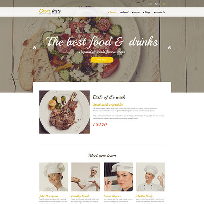 Great Taste Drupal Template (Drupal theme for restaurants) Item Picture