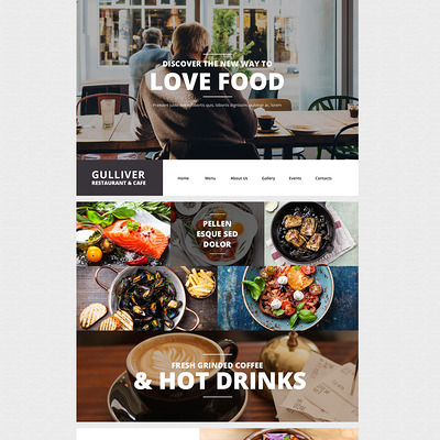 Gulliver WordPress Theme (WordPress theme for restaurants) Item Picture