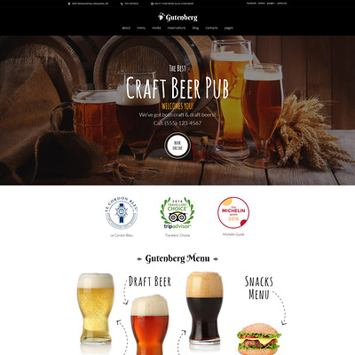 GutenBerg (WordPress theme for restaurants) Item Picture