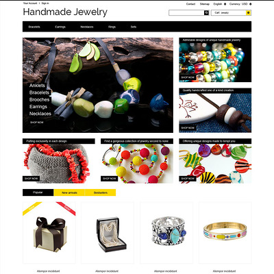 Handmade Ornaments PrestaShop Theme (PrestaShop theme for jewelry stores) Item Picture