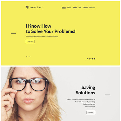 Heather Grant (Joomla template for financial websites) Item Picture