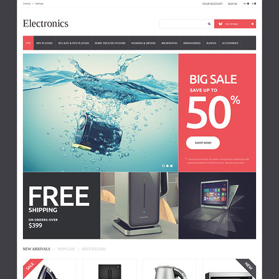 Home Electronics PrestaShop Theme (PrestaShop theme for electronics stores) Item Picture