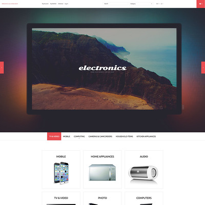 Home Electronics Store Magento Theme (Magento theme for electronics stores) Item Picture