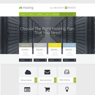 Hosting Provider OpenCart Template (OpenCart theme for web hosting providers) Item Picture