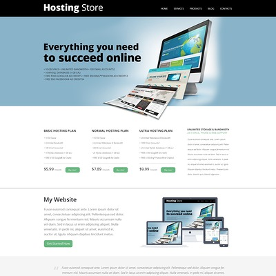 Hosting Store Joomla Template (Joomla template for web hosting companies) Item Picture