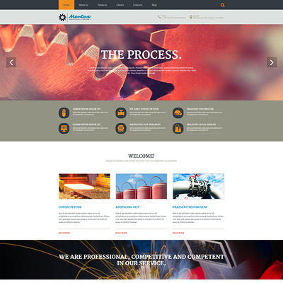 Industrial Company Joomla Template (Joomla template for industrial companies) Item Picture