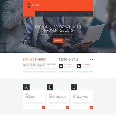 Interactive Ad Group WordPress Theme (WordPress theme for advertising agencies) Item Picture