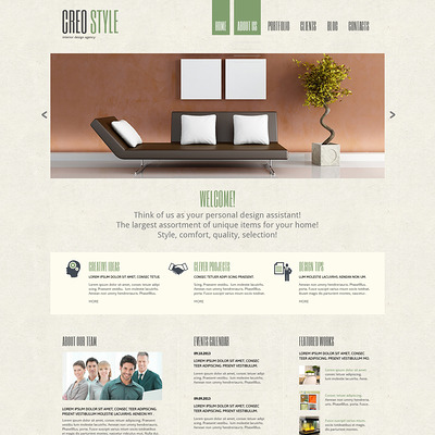 Interior Design Responsive Joomla Template (Joomla template for interior design websites) Item Picture