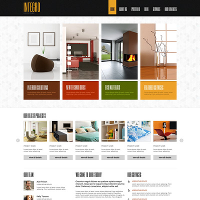 Interior Design for Profit Joomla Template (Joomla template for interior design websites) Item Picture