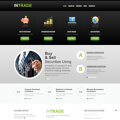 Investment Company Responsive Joomla Template (Joomla template for financial websites) Item Picture