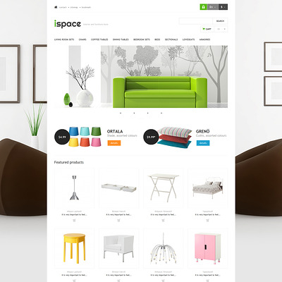 Ispace PrestaShop Theme (PrestaShop theme for furniture stores) Item Picture