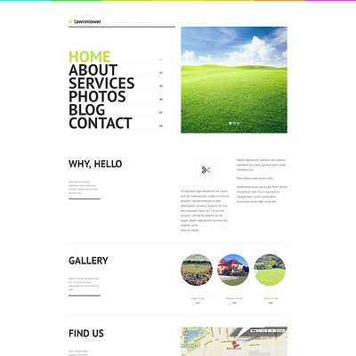 Landscape Design Responsive WordPress Theme (WordPress theme for landscapers and gardeners) Item Picture